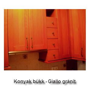 Konyak bükk - Giallo gránit