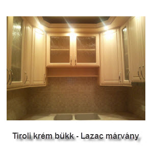 Tiroli krém bükk - Lazac márvány