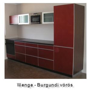Wenge - burgundivörös