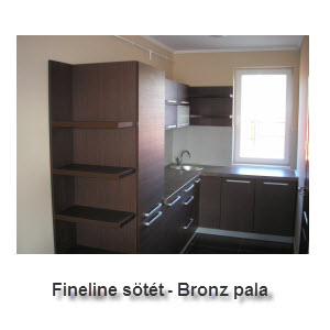Fineline sötét - Bronz pala
